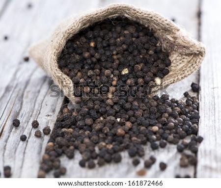 Fresh Black Pepper (studio shot) - stock photo