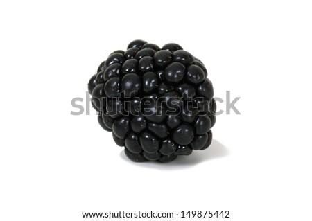 Fresh blackberry on white background - stock photo
