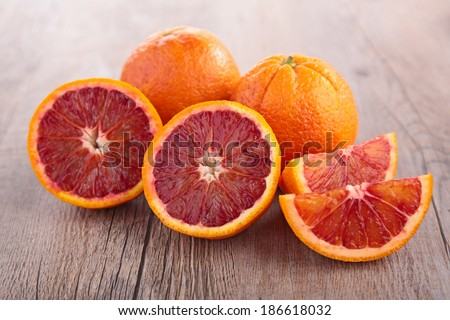 fresh blood orange - stock photo