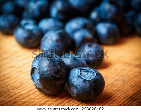 Fresh Blueberries - Selective focus - stock photo