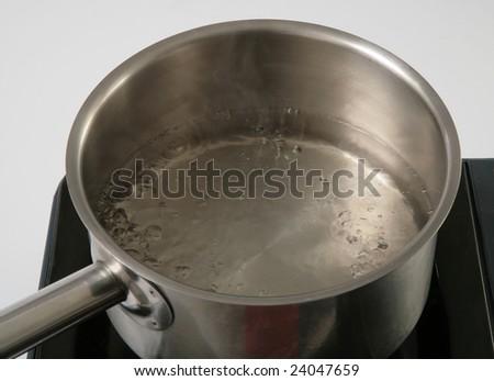 fresh boiled water - stock photo