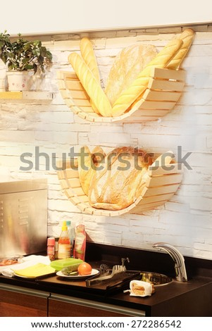 Fresh bread  - stock photo
