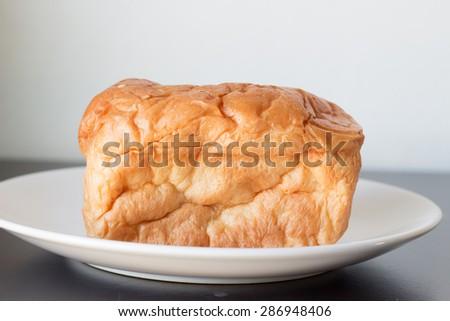 Fresh bread. Focusing  on the bread. - stock photo
