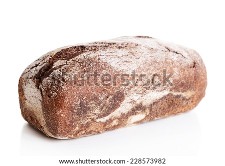Fresh bread isolated on white - stock photo
