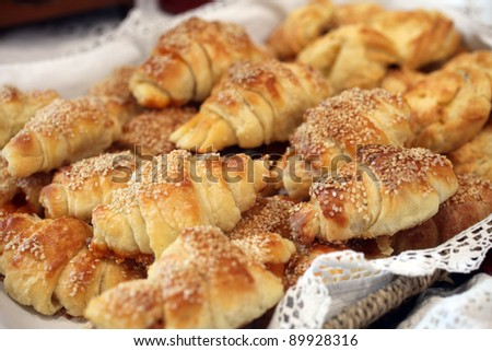 Fresh bread rolls - stock photo
