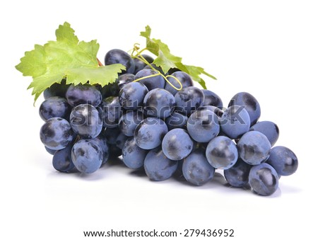 Fresh bunch of grapes - stock photo