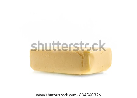 Fresh Butter Bar isolated on white background