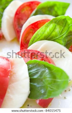 Fresh caprese salad - stock photo