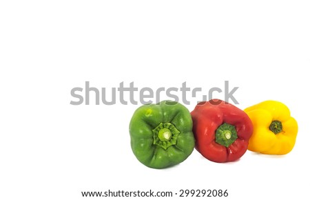 Fresh capsicum isolated on white background