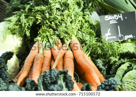 Fresh carrot on farmers market