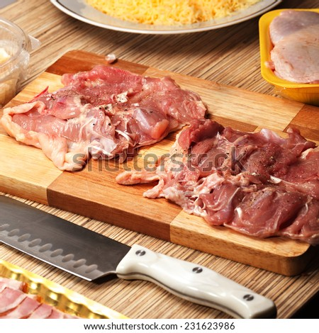 Fresh chicken meat for cooking. - stock photo