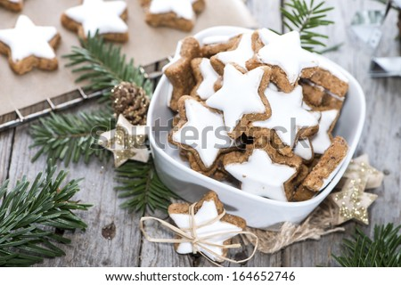 Fresh Christmas Sweets (homemade Cinnamon Cookies) - stock photo