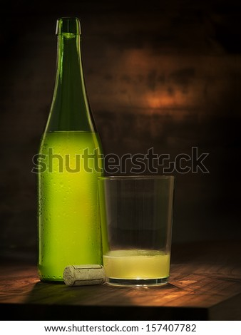 fresh cider - stock photo