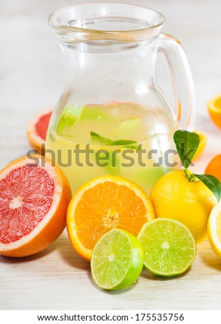 Fresh citrus juice - stock photo