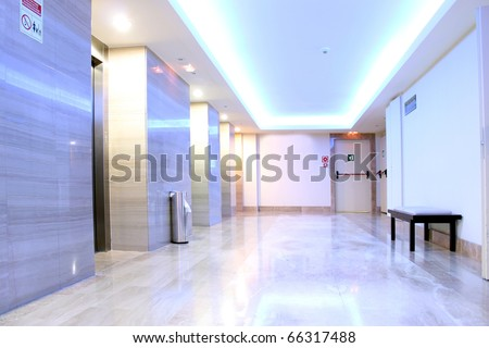 Fresh, Clean and Brightly Lit Elevator Lobby