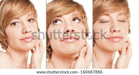 Fresh clean skin. woman - stock photo