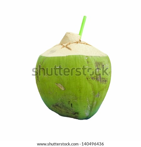 fresh Coconut Water Drink - stock photo