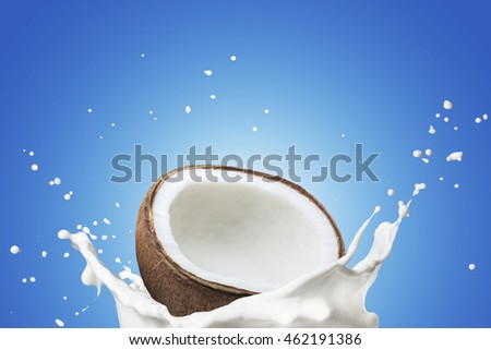 Fresh Coconut With Milk Splash