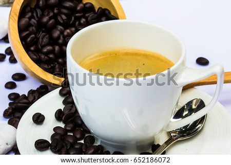 Fresh Coffee bean to become hot coffee