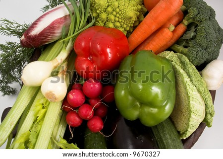 fresh colorful vegetables - stock photo