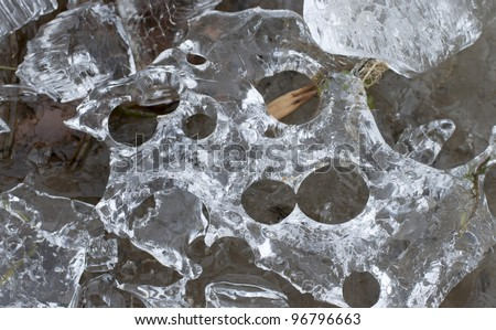 fresh cool ice  background (Shallow DOF) - stock photo