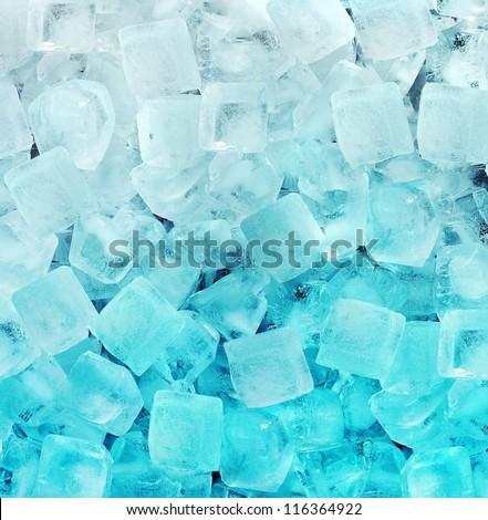 fresh cool ice cube background - stock photo