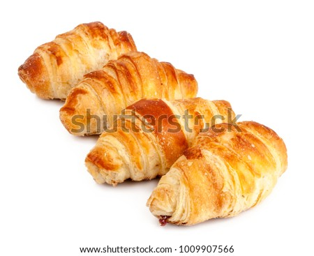 fresh croissant isolated on white background