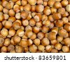 fresh cropped filberts as food background - stock photo
