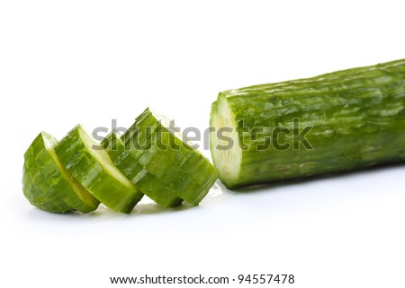fresh cucumber isolated on white