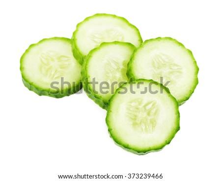 Fresh Cucumber Slices - stock photo