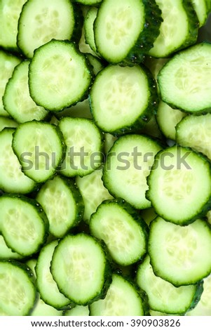 Fresh Cucumbers as  background. Cucumber texture - stock photo