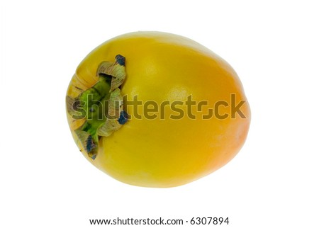 Fresh date plum isolated on white background