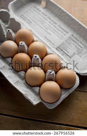 Fresh Eggs Free Range - stock photo