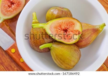 fresh figs - stock photo