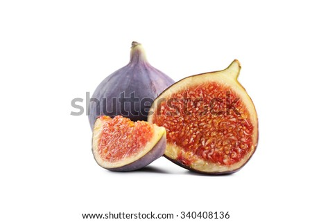 Fresh figs isolated on a white