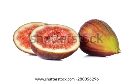 Fresh figs on white background - stock photo