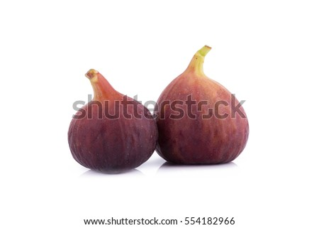 Fresh figs, sweed figs isolated on white background
