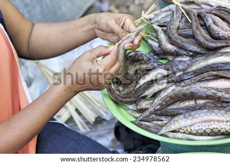Fresh fish - in the market - stock photo