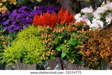 Fresh flower market - stock photo