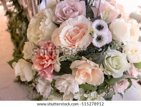 Fresh flowers, decorate various ceremonies.