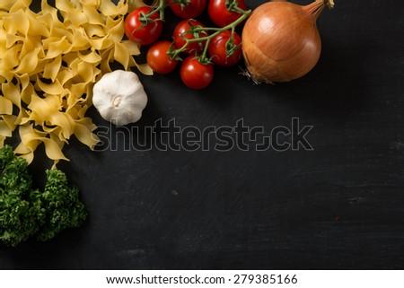 Fresh food Background - stock photo