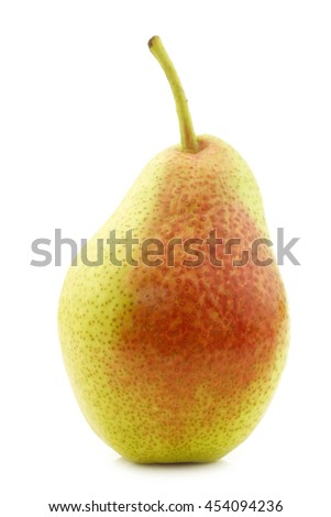 "fresh ""Forelle"" pear on a white background - stock photo"