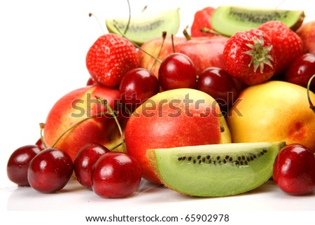 Fresh fruit and berries - stock photo