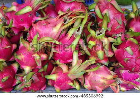 Fresh Fruit Market. Dragon fruit at the market