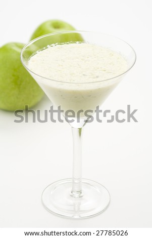 fresh fruit milk shake apple and celery