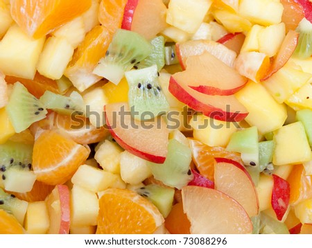 Fresh fruit mix - stock photo