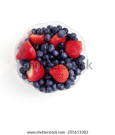 Fresh fruit ready to eat in a fruit bowl - stock photo