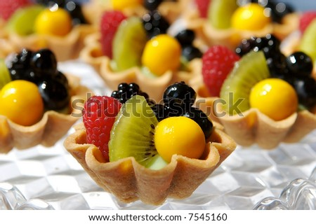 Fresh fruit tart - stock photo