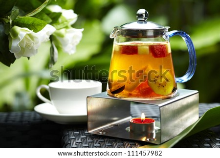 Fresh fruit tea - stock photo