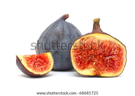 fresh fruits figs isolated over white